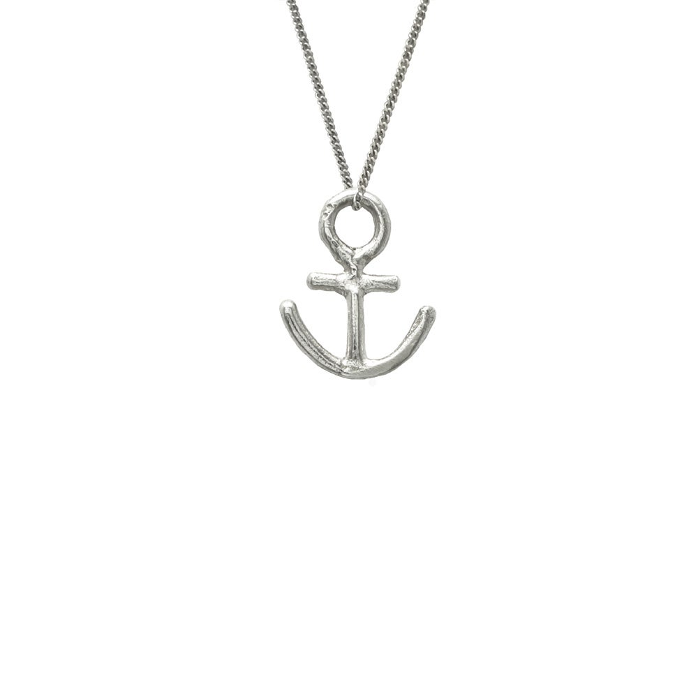 Image of Anchor Necklace 3D Small