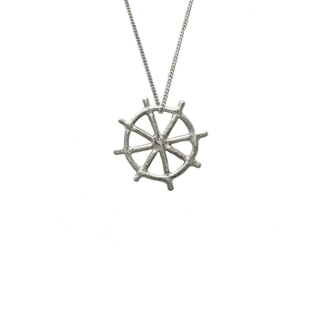 Image of Ship Wheel Necklace 3D