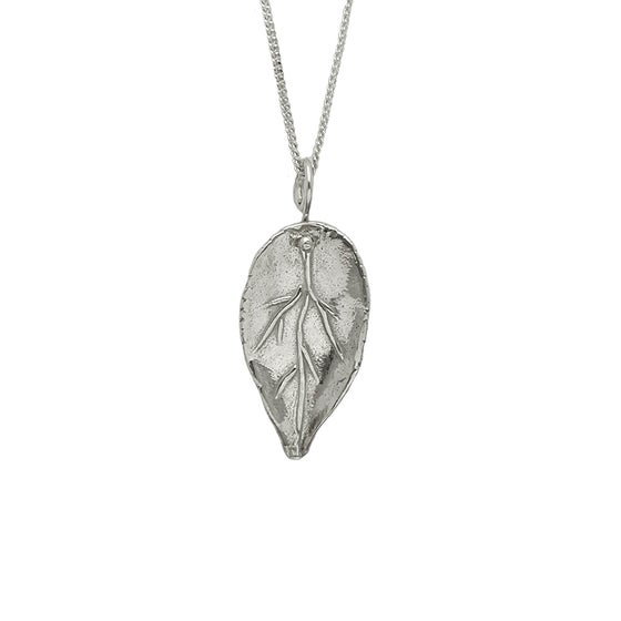 Image of Leaf Necklace 3D Small
