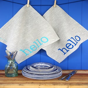 Image of Hello Linen Napkins {set of two}