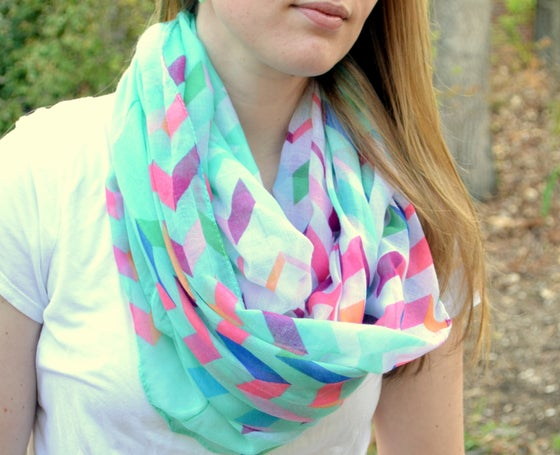 Image of Colorful Infinity Scarves