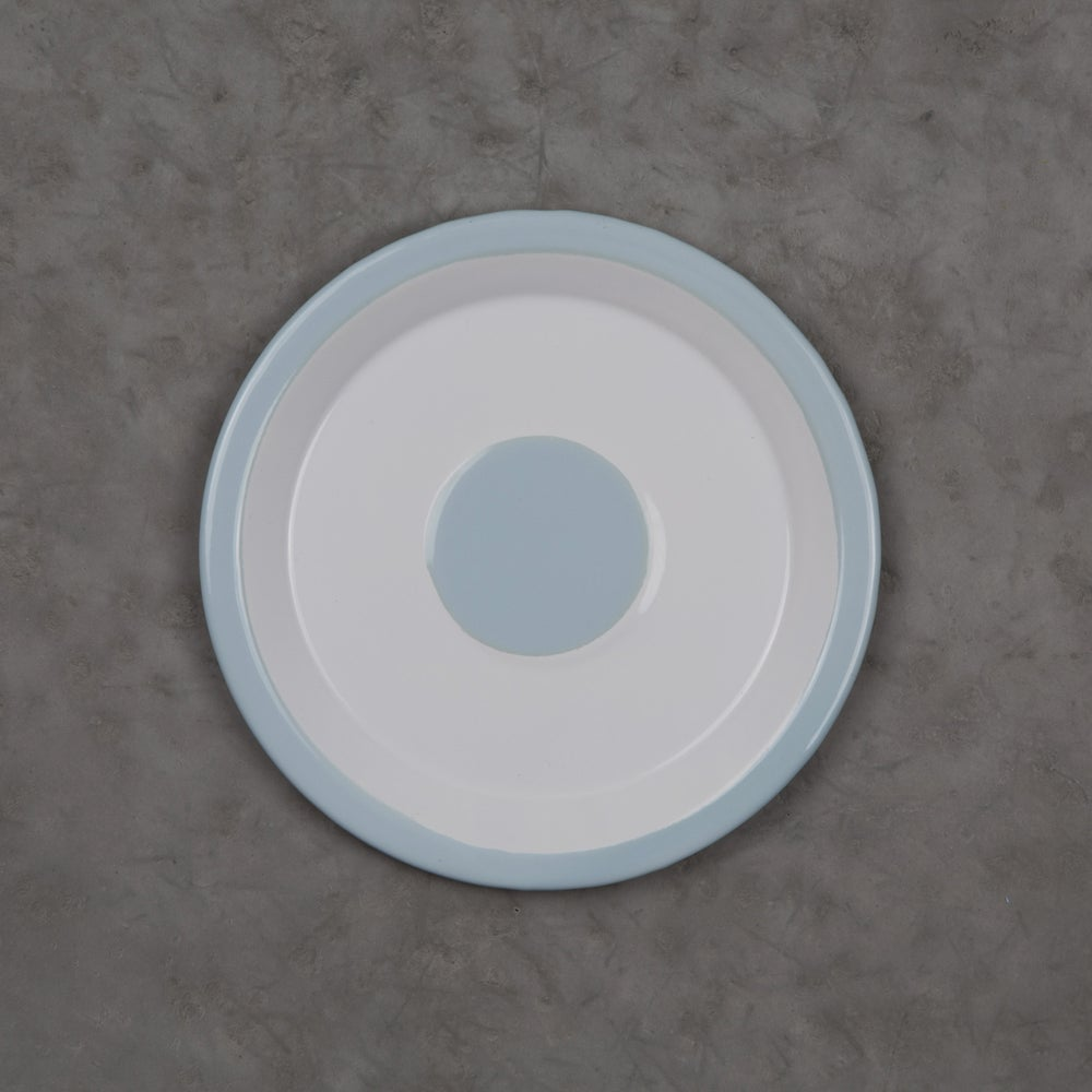 Image of Enamel Plate 18cm - LIGHT BLUE