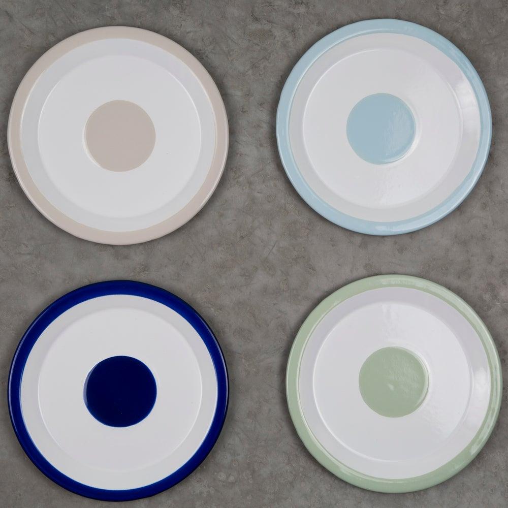 Image of Enamel Plate COBALT 18cm