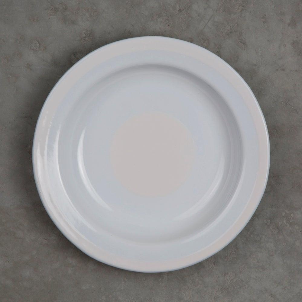 Image of Deep Enamel Plate WHITE 22cm