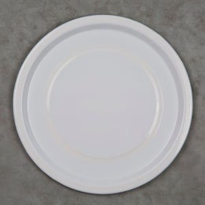 Image of Enamel Plate WHITE 24cm