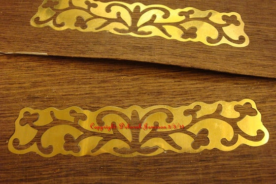 Image of Item No. 55.  Brass Inlay Into Wood Solid Or Veneer.