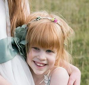 Beth Bridemaid Floral Hair Garland - Laura Pettifar Designs