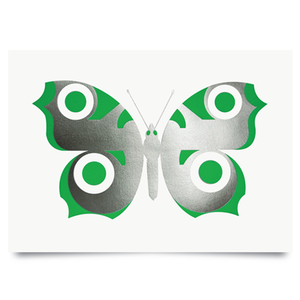 Image of Peacock Chrome/Green print