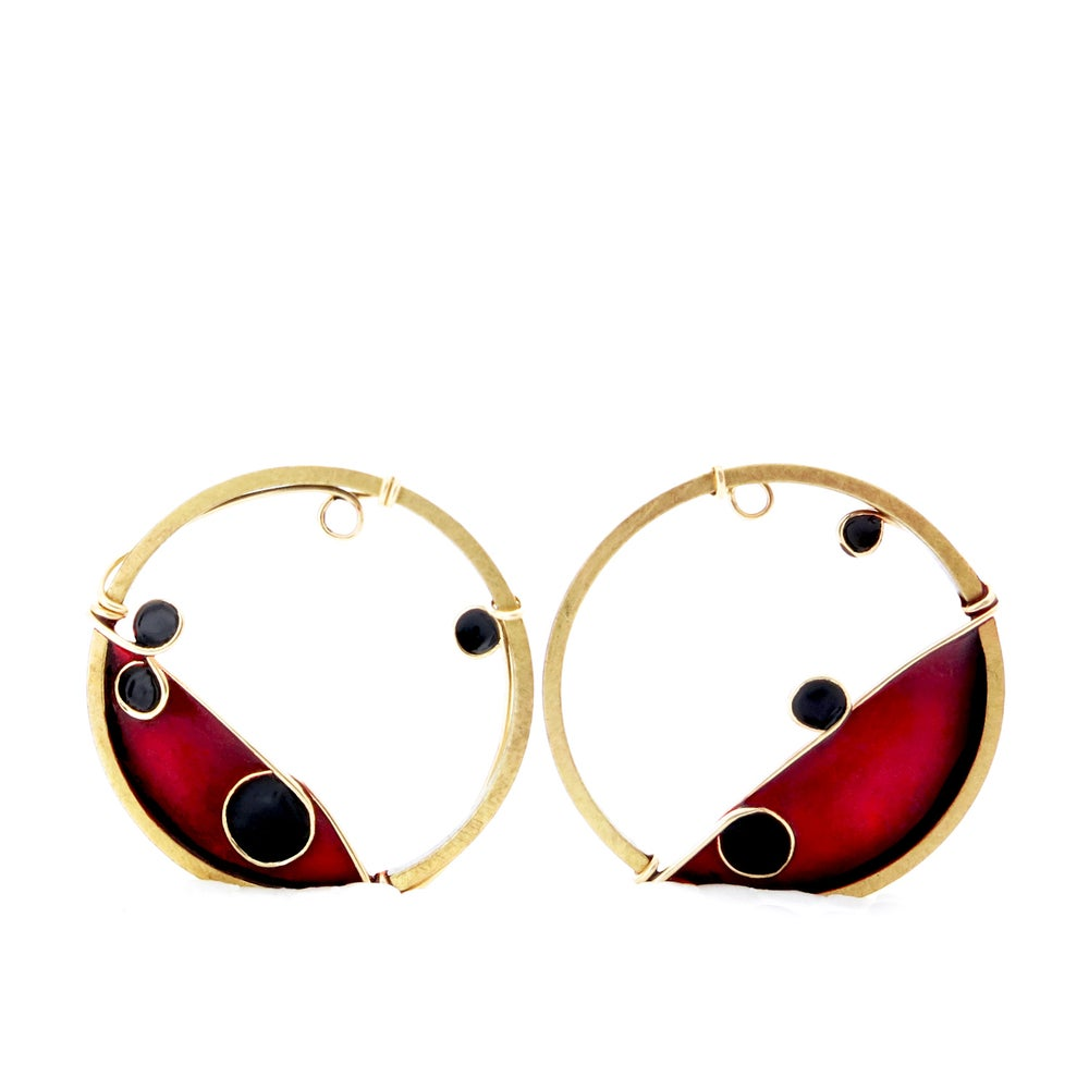 Image of Circles Gold Earrings