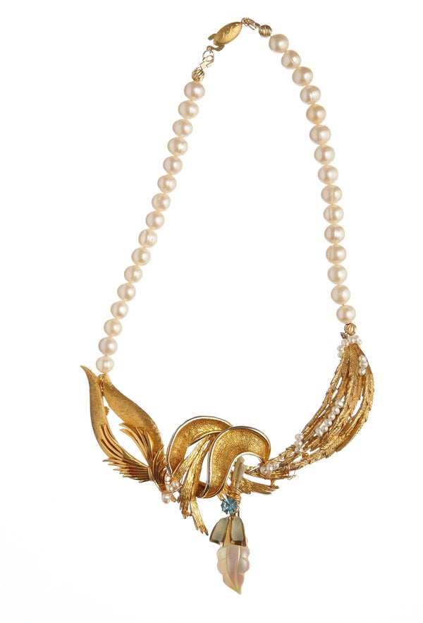 Estella Vintage Goldtone Necklace - Laura Pettifar Designs