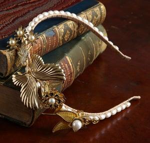 Esme Vintage Goldtone Headpiece - Laura Pettifar Designs