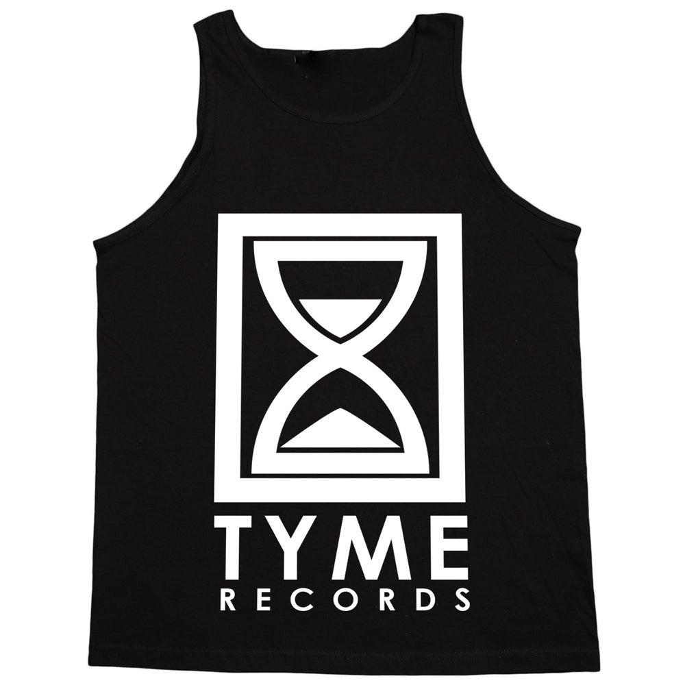 Image of Tyme Records Black w/White Logo Tank