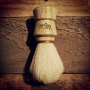 Image of Personalized Men's Wood Shaving Brush - Boar's Hair