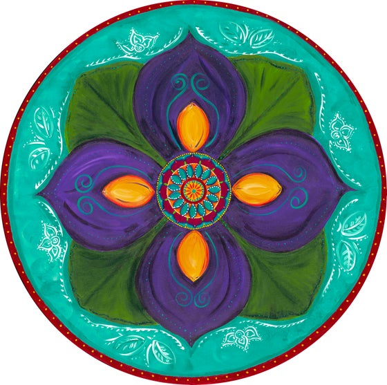 "Image of ""Spiritual awakening""- Purple Lotus Bud Meditation Mat"