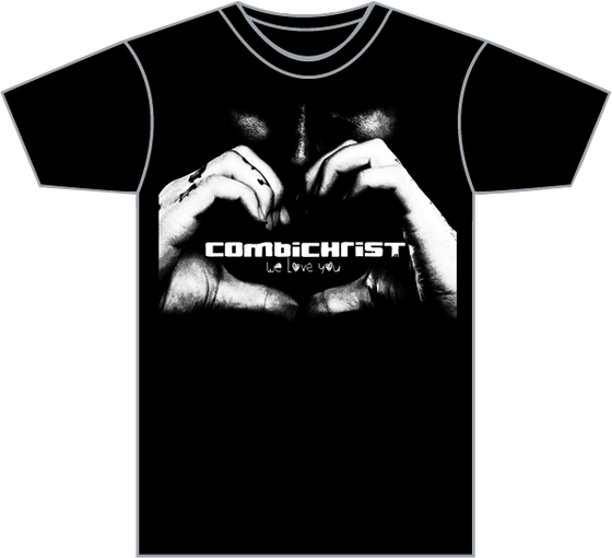"Image of Combichrist ""We Love You"" Men's T-Shirt"