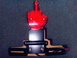 Image of Cafe Racer Taillight With Bracket - Middle Finger