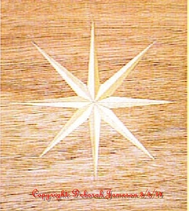 Image of Item No. 73. **HAND CUT**  Basic Nautical Star.