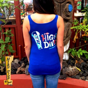 Image of Women's Tiki Tanks - Royal Blue