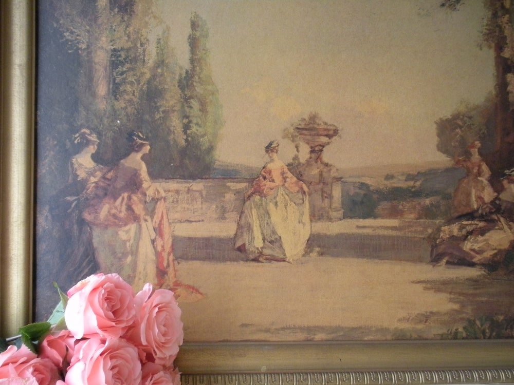 Image of Vintage French Print