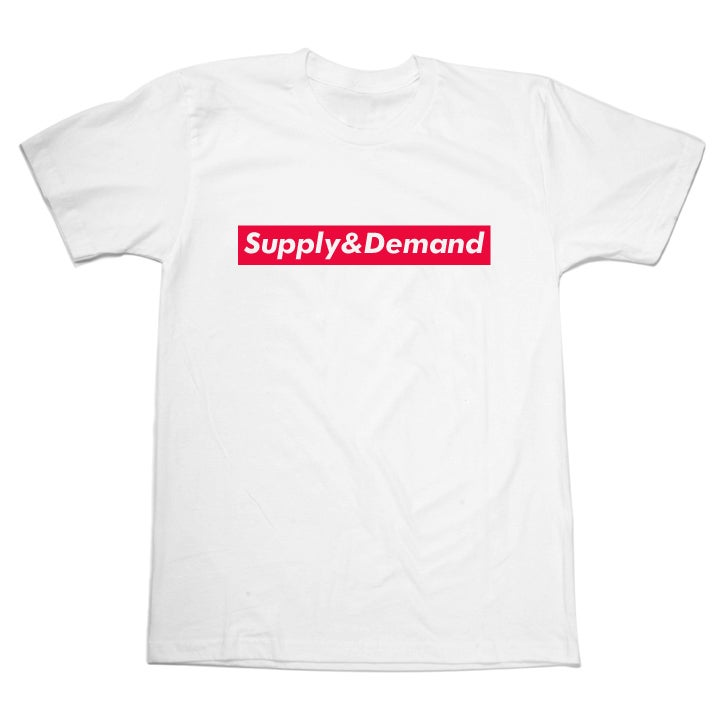 "Image of ""Supply & Demand"" T - White"