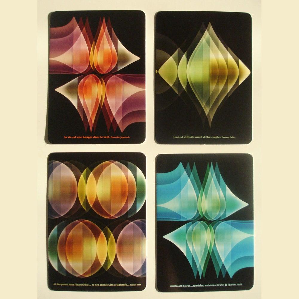 Image of Lot de 4 cartes postales