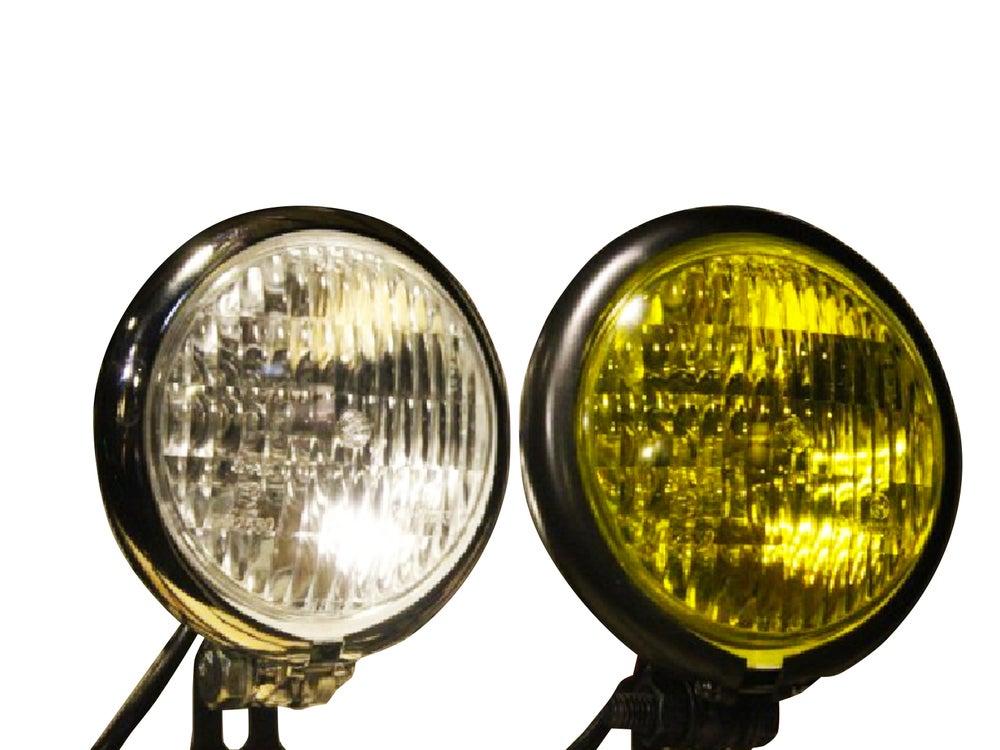 "Image of Cafe Racer Bates Headlight 4.5"" Chrome / Black"
