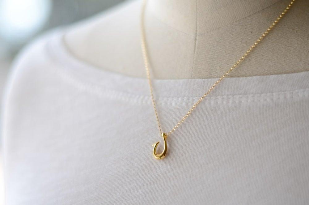 Image of Makau Hawaiian Fish Hook Necklace Gold