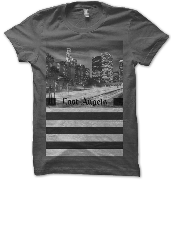 """Image of """"Lost Angels"""" Tee - Gray"""
