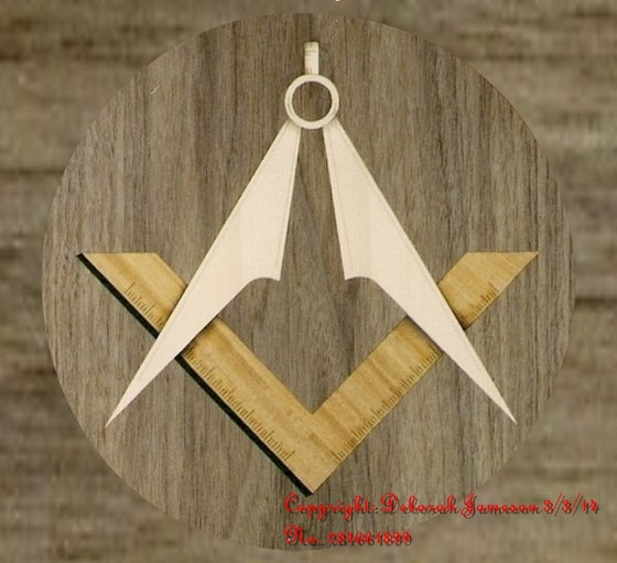 Image of Item No. 92. Masonic Motif  INCLUDE YOUR LODGE here
