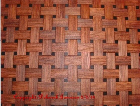 Image of Item No. 81. Basketweave out of Wood Veneer.