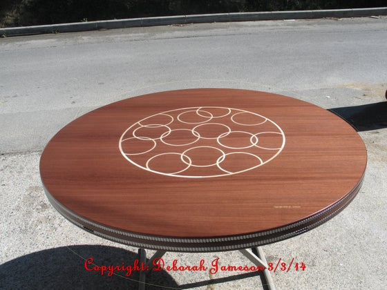 Image of Item No. 160.  Nautical Table Top - Intertwining Circles.