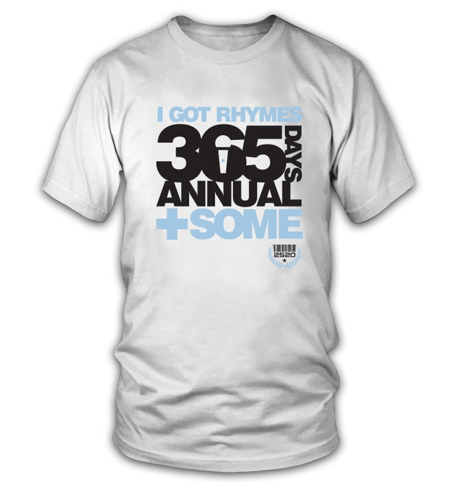 Image of 2520 365 DAYS TEE - WHITE