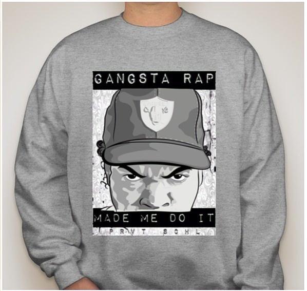 """Image of """"Gangsta Rap"""" crew neck"""