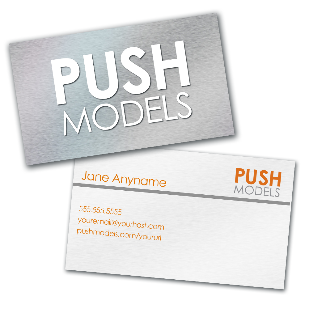 Personalized PUSH Models Business Card / PUSH Model Gear