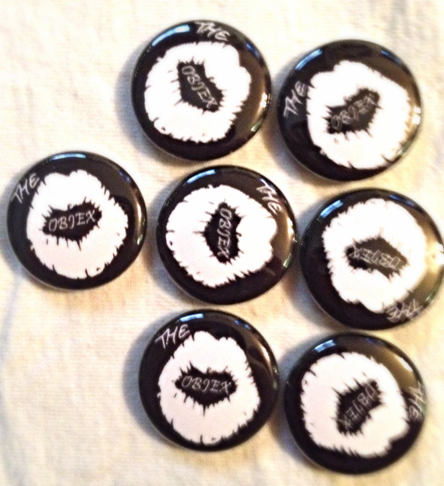 """Image of The Objex 1"""" Lips Button and Patches"""