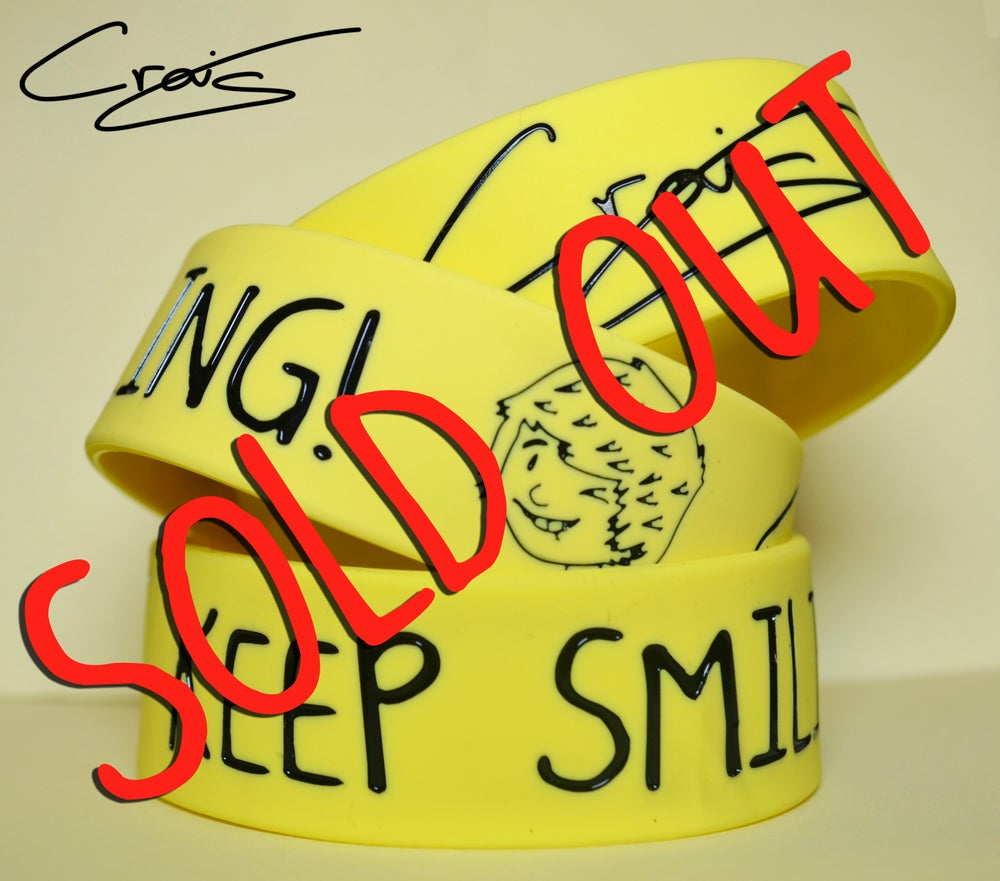 Image of Keep Smiling! Craig's Cream Wristband!