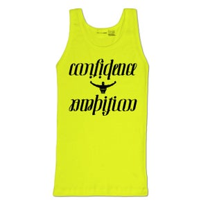 Image of Confidence & Ambition Ambigram Neon Tank