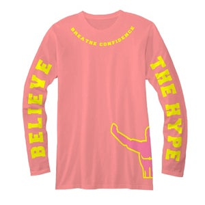 Image of Hands to the Sky Pink Long Sleeve Tee