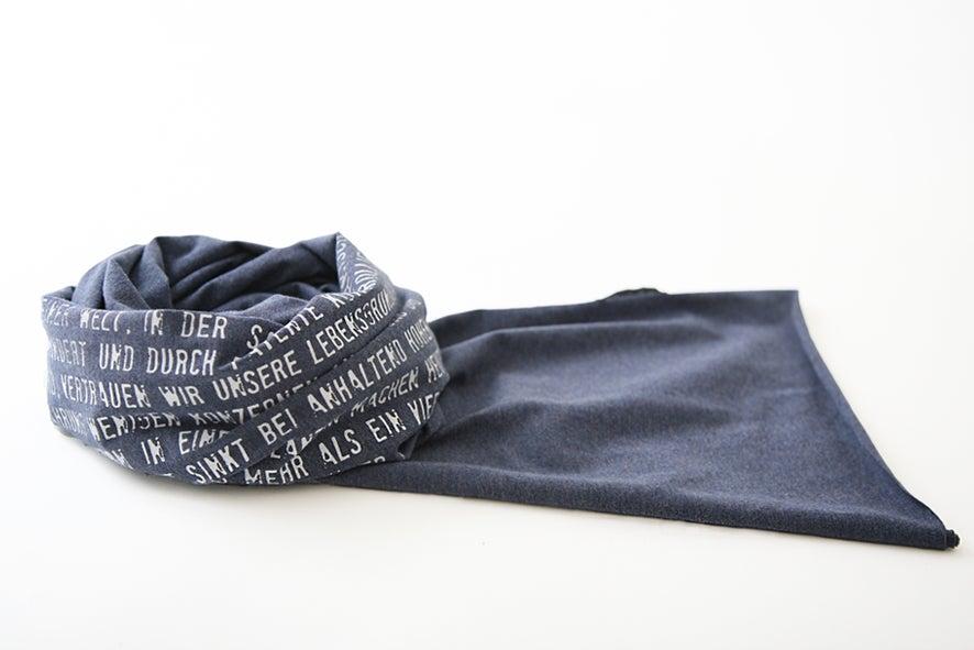 Image of Jersey Schal blau meliert