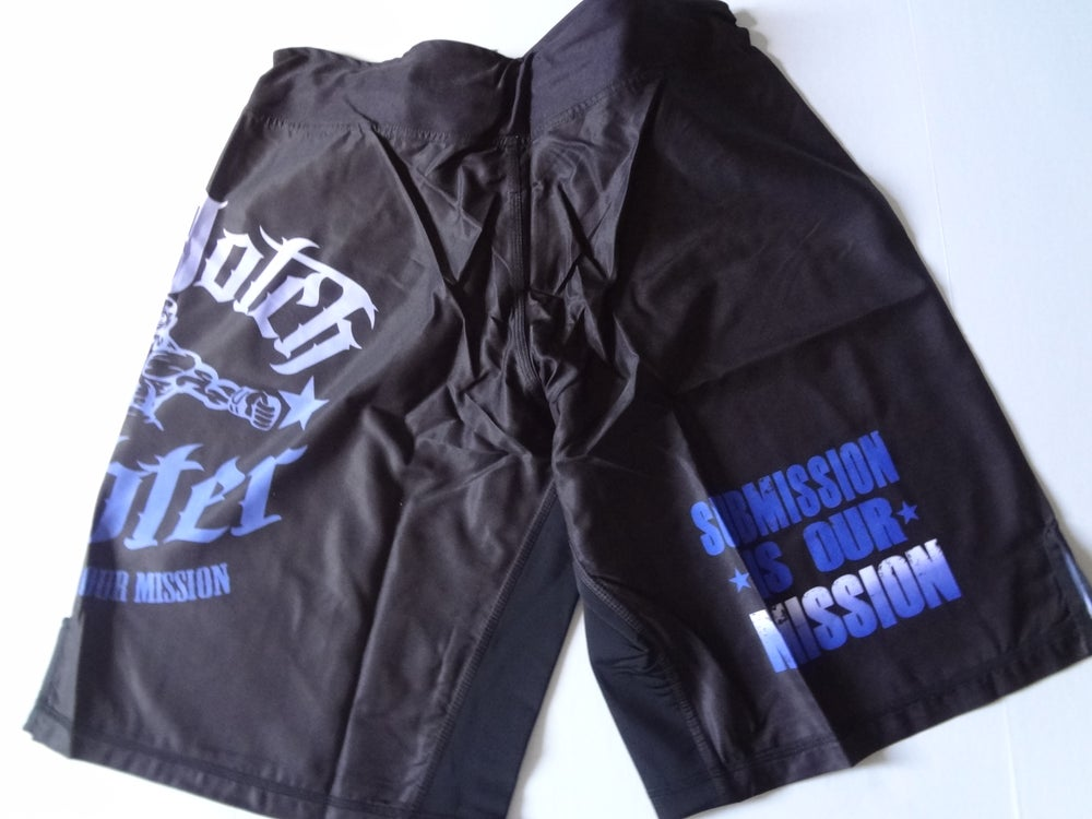 Image of Top Notch Fighter mens shorts(long/blue)