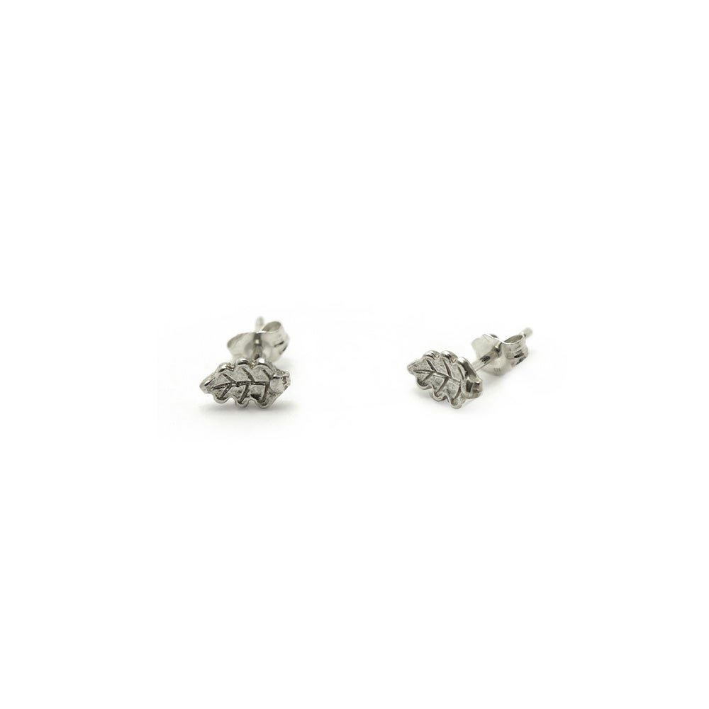 Image of Oak leaf Stud 3D mini