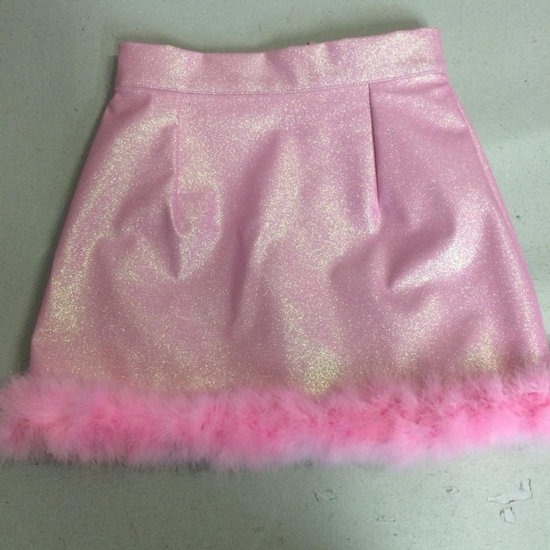 Image of Ready To Post - Michelle Baby Pink Glitter Skirt