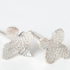 Image of Botanical Sterling Silver Flower Studs