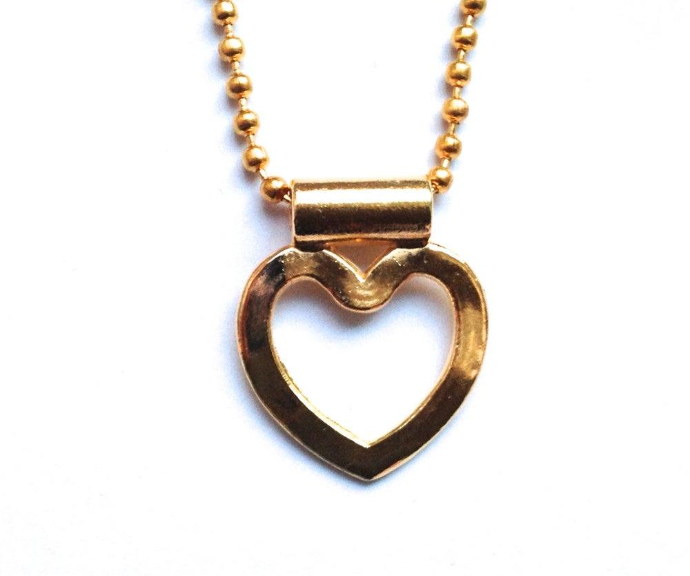 Image of Kool Jewels vintage style goldtone heart chain