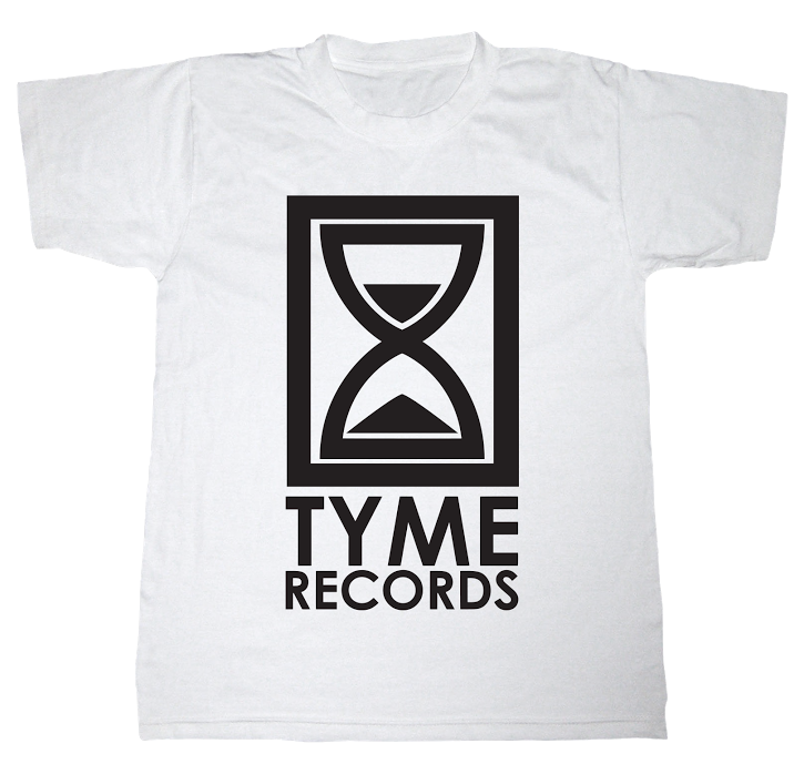 Image of Tyme Records White w/Black Logo Tee