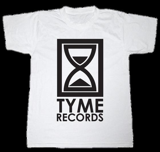 Image of Tyme Records White w/Black Logo Tee