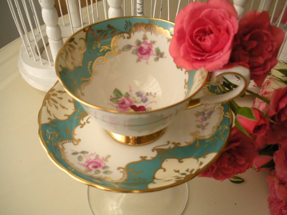 Image of English Tea Cup and Saucer