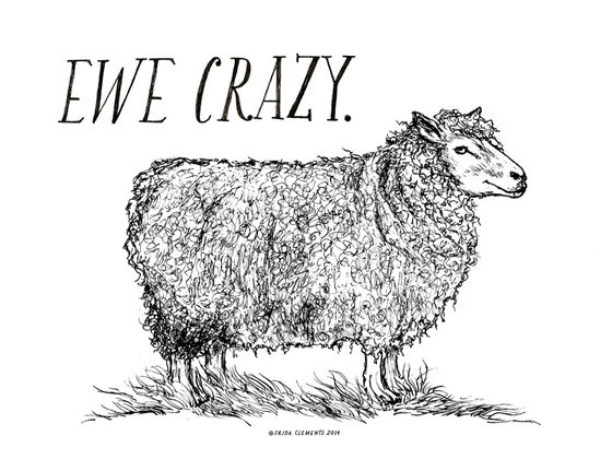 Image of Ewe Crazy / Mini Print