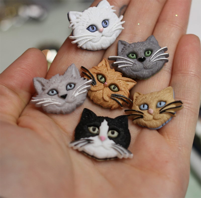 Image of Kitty Face Plugs (sizes 0g-5/8)