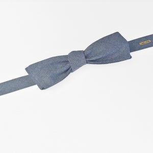 Image of dusk chambray bow tie